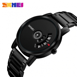 SKMEI 1260 Men's Quartz Watch Waterproof Full Steel Wristwatch Male Clock