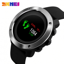 SKMEI 1336 Sport Watch Men Compass Pedometer fitness 5Bar Waterproof Digital Watch